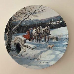 crossing the bridge by persis clayton art plate